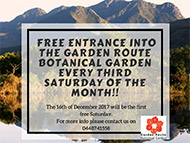 Free Entrance Into The Garden Route Botanical Garden