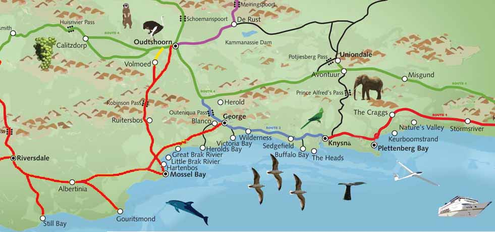 Maps of Garden Route Info